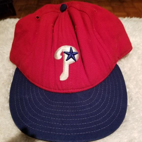 0c43fd3ad5c1d6 New Era Accessories   Vtg Philadelphia Phillies 7 38 Hat Cap   Poshmark